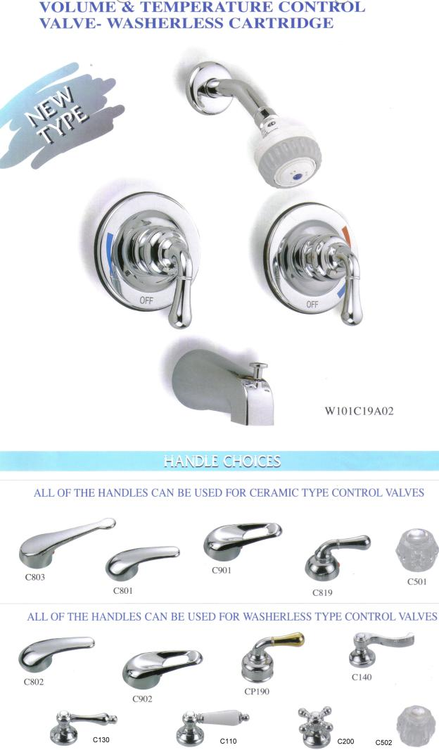 Faucet With Pressure Balance Valve Shower Cabin Kitchen